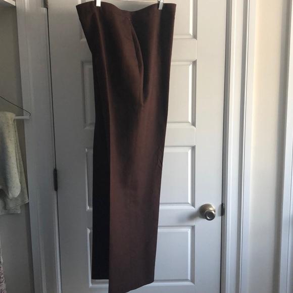 Kate Hill Pants - Kate Hill linen dress pants. Brown. 16w.